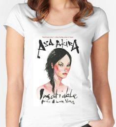 'Asa Akira' Fitted Scoop T-Shirt by strokouameah Akira, Laptop Sleeves, Classic T Shirts, Fitness, Stuff To Buy, Tops, Fashion, Moda, La Mode