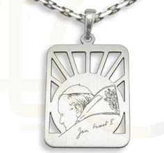 Medalik ze srebra z Świętym Janem Pawełem / Medallion made from silver / 50 PLN #silver #medallion #jewellery #jewelry