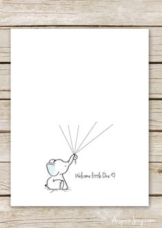 Free Elephant Baby Shower Guest Book Printable-blue or pink. And you can even customize it! Definitely going to use this at the next baby shower I throw!