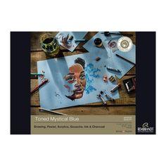Rembrandt toned Mystical Blue paper pad180gsm 50 sheets A4