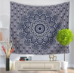 Sunny Rain Pattern Tapestry – Licensed Hippie