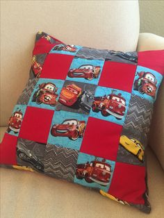 Disney Lightning McQueen cars bedroom pillow! All done, with envelope back.
