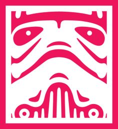 Pink Storm Trooper from Star Wars