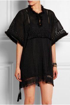 Isabel MarantFringed Open-Knit Mini Dress (Net-a-Porter)