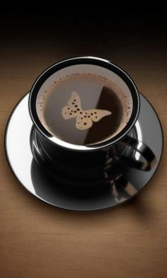 coffee is good-and the butterfly just makes me smile!