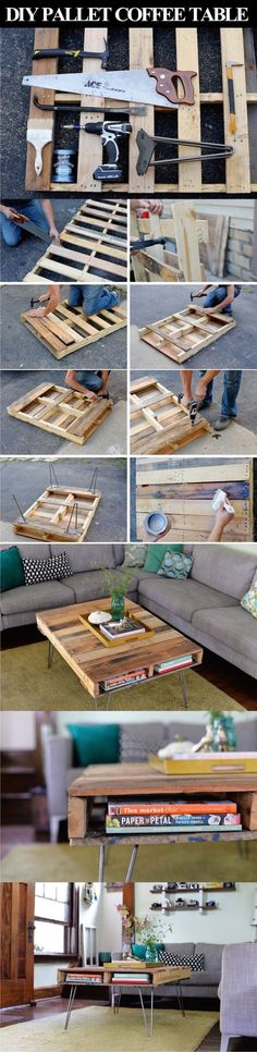 DIY Pallet Coffee Table Pictures, Photos, and Images for Facebook, Tumblr, Pinterest, and Twitter