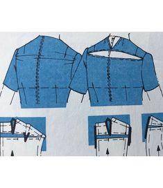 Fix pulling at back yoke Pattern Drafting Tutorials, Sewing Tutorials, Sewing Lessons, Sewing Hacks, Dress Sewing Patterns, Clothing Patterns, Sewing Clothes, Diy Clothes, Fix Clothing