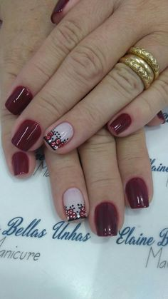 Uñas 💅 Nail Arts, Nail Art Designs, Lily, Red, Beauty, Perfect Nails, Pretty Nails, Christmas Nail Designs, Accent Nails