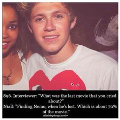 Niall Horan ladies and gentlemen. The gut who laughed in a car crash and cried while watching finding nemo