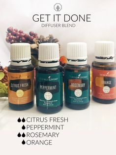 GET IT DONE Essential Oil Diffuser Blend - #SaturdaEO - Handrafted Essential Oils For Pain, Orange Essential Oil, Essential Oil Cold Remedy, Young Living Essential Oils, Essential Oil Uses, Essential Oil Storage, Young Living Oils, Diffuser Recipes, Diy Diffuser Oil