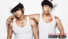 2PM's Ok Taecyeon and Lee Jun Ho Cosmopolitan Korea Magazine June 2012
