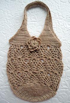 Bolsa Rendada retrô 2 em crochê no Elo7 | Artes da Cris Handmade (66C15A)