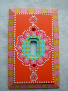 Switch Plate One of a Kind Hand Painted Art by lilEllaBella, $65.00