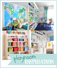 Playroom Organization Inspiration. Awesome ideas for all kinds of playrooms! #NCreativeMama