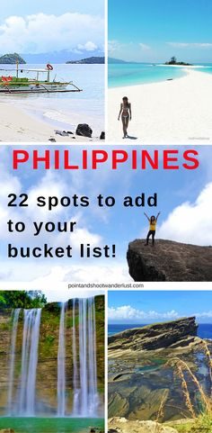 PHILIPPINES | places to visit | destinations | things to do | bucket list | Philippine islands | vacation | Southeast Asia | Asia | Palawan | Romblon | Antique | Davao | Samar | Camarines Sur
