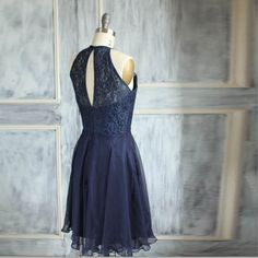 Wedding dress , HALTER chiffon party dress, bridesmaid lace dress, formal dress in NAVY Can customize length Mint Dress, Lace Dress, Dress Up, Dress Long, Chiffon Dress, Gala Dresses, Nice Dresses, Navy Bridesmaid Dresses, Wedding Dresses