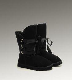 UGG Roxy Short 5828 Black Boots For Sale In UGG Outlet - $104.04