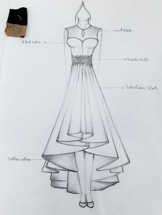 ideas fashion illustration outlines haute couture Best Picture For fashion sketches win Dress Design Drawing, Dress Design Sketches, Fashion Design Sketchbook, Dress Drawing, Fashion Design Drawings, Fashion Sketches, Fashion Figure Drawing, Fashion Drawing Dresses, Drawing Fashion