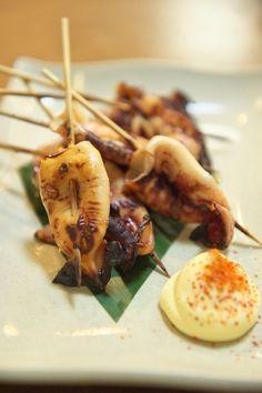 Isayaki /skewered squid.