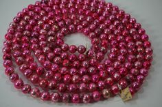 Vintage Christmas Garland OLD Glass Tree Garland by meghandrago