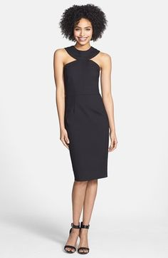 Cynthia Steffe Cutout Yoke Sheath Dress available at #Nordstrom