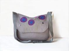 #Gray #satchel #women #Gift #ladies #purse #Crossbody #bag #etsy #etsyfashion #etsybags #designer #models #spring #summer #fashion #ideas #fabricbags #giftfor women #giftideas #purses #pursesonline #shopping #shoponline #boho #bohostyle #bohobags #bohemian #embroideries #flowers #purple #blue #floral #zipbag #design #handmade by #PurpleFlowerPurses
