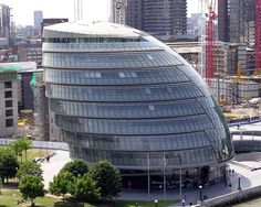 City Hall, London - City Hall is the headquarters of the Greater London Authority, which comprises the Mayor of London and the London Assembly. It is located in Southwark, on the south bank of the River Thames near Tower Bridge. City Of London, Mayor Of London, Architecture Unique, London Architecture, Commercial Architecture, Spanish Architecture, Architecture Images, Building Architecture, Sustainable Architecture