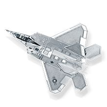 """F-22 Raptor"" MMS050 | Flight  | METAL EARTH | FASCINATIONS"