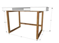 Ana White | Modern 2x2 Desk Base for Build Your Own Study Desk Plans - DIY Projects