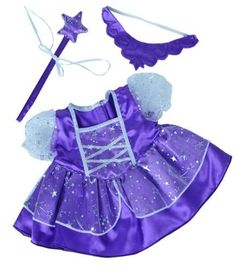 Ooh I want this! Purple Fairy Princess Dress w/Wand Teddy Bear Clothes Outfit Fits Most - Build-a-bear, Vermont Teddy Bears, and Make Your Own Stuffed Animals Teddy Bear Clothes, Pet Clothes, Doll Clothes, Vermont Teddy Bears, Large Teddy Bear, Build A Bear Outfits, Bear Costume, Princess Outfits, Fairy Princesses