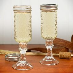 Remember to use your lid to prevent spills and keep bugs out of your drink!  Each glass holds 8 ounces of your beverage of choice.     They are great for weddings, gifts, and your next outdoor barbeque.   Perfect for the Hillbilly in your life!     Made with a VERY strong bond in a multi-step process, and will never yellow.  $29.99