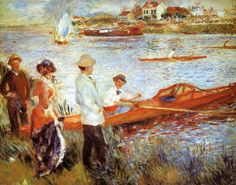 Oarsmen at Chatou by Pierre Auguste Renoir - Shop Discount Oil Paintings at OilPaintings.com