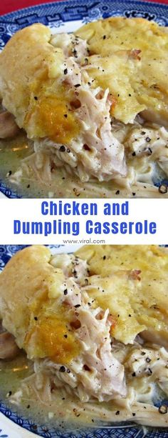 This is pure comfort food and perfect to warm the soul on a chilly day. This is pure comfort food and perfect to warm the soul on a chilly day. Chicken Dumpling Casserole, Casserole Dishes, Casserole Recipes, Chicken Dumplings, Hamburger Casserole, Corn Casserole, Cooking Recipes, Healthy Recipes, Yummy Recipes