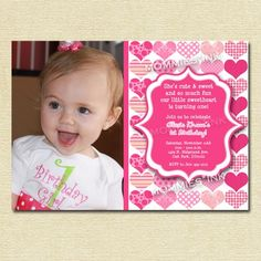 Sweetheart Birthday Party Invitation - PRINTABLE INVITATION DESIGN by MommiesInk on Etsy https://www.etsy.com/listing/55102955/sweetheart-birthday-party-invitation