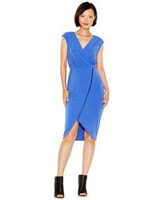 RACHEL Rachel Roy Asymmetrical-Zip Jersey Dress