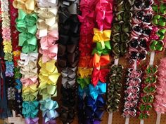 Bows, bows and MORE BOWS! And this isn't all of them!  Come see what we just got in! Denim, burlap and sparkles, OH MY!