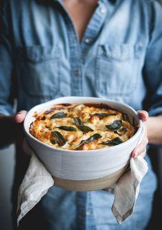 Four Cheese Vertical Roll Lasagna + Butternut Squash, Sausage & Kale - The Kitchen McCabe // @kitchenmccabe