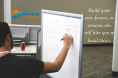 Build your own dreams, or someone else will hire you to build theirs #HoCoMD #Inspiration