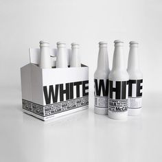 White beer packaging by Lea Feng (and good photography showing all angles of bottle)