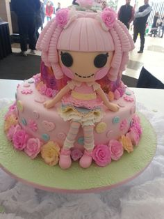 Lalaloopsy cake made from fondant