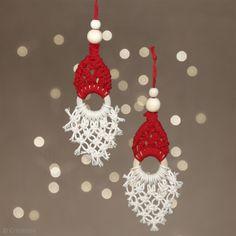 Homemade Christmas Decorations, Christmas Ornament Crafts, Holiday Ornaments, Handmade Christmas, Holiday Crafts, Christmas Crafts, Handmade Ornaments, Macrame Design, Macrame Projects