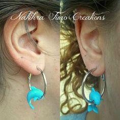 Dolphin Earring Polymer Clay by Nakihra on DeviantArt