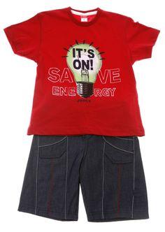 Παιδικά ρούχα AZshop.gr - Joyce παιδικό σετ μπλούζα-παντελόνι «Save Energy» d55fd652bb0