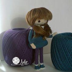 Julie crocheting. Handmade from heart: Ника. Кукла крючком