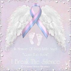 In memory of every angel gone too soon. I break the silence.