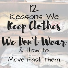 Continuing with my clothing decluttering series, my latest post up on the blog is about 12 common reasons it's hard to let go of clothes you no longer wear, and how to move past them. If you're trying to minimize your clothing, but are struggling to let go of some items, check out this post. Link in bio!