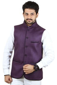 Buy Royal Blue Color Rai Sahab Modi Jacket For Men Online in India
