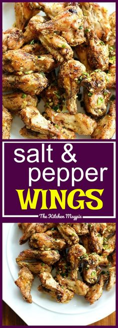 The most amazing Salt and Pepper Chicken Wings I have ever made. The ingredients are simple, delicious in your fridge! Check out my photos instructions! recipe from The Kitchen Magpie Keto Chicken Wings, Cooking Chicken Wings, Air Fryer Chicken Wings, Actifry Chicken Wings, Oven Baked Chicken Wings, Chiken Wings, Chicken Wing Marinade, Chicken Bombs, Chinese Chicken Wings