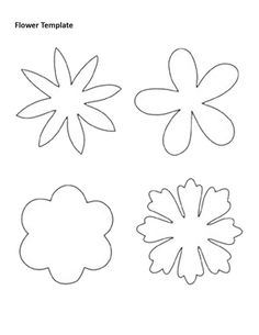 Flower template to color Shape