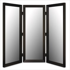 Dressing mirror on pinterest 3 way mirrors full length for Bathroom 3 way mirror